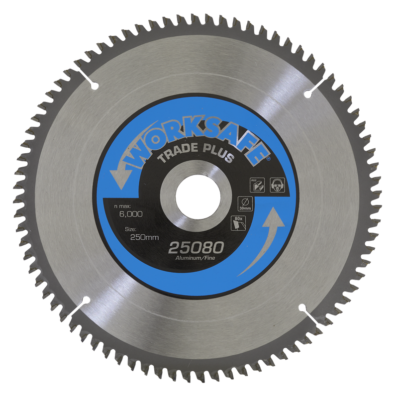 Aluminium Cutting TCT Saw Blade Ø250 x 30mm - 80tpu