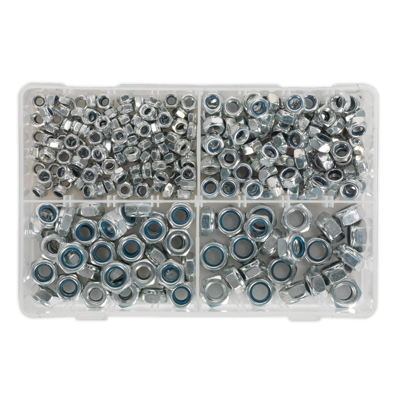 Nylon Lock Nut Assortment 300pc M6-M12 DIN 982 Metric
