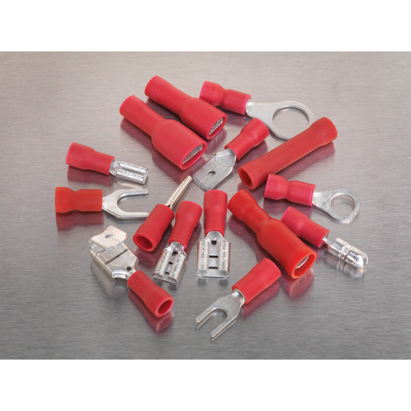 Crimp Terminal Assortment 260pc Red