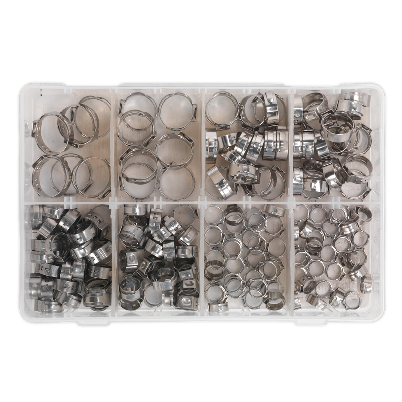 O-Clip Single Ear Assortment 160pc Stainless Steel