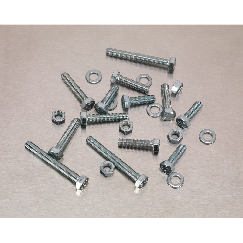 Setscrew, Nut & Washer Assortment 444pc High Tensile M5 Metric