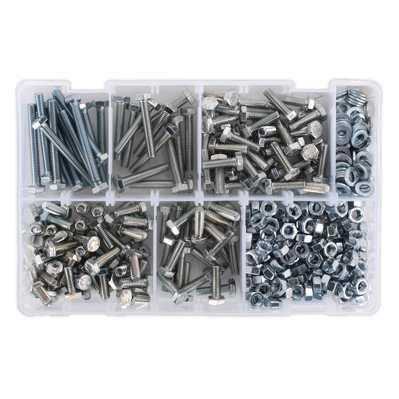 Setscrew, Nut & Washer Assortment 408pc High Tensile M6 Metric
