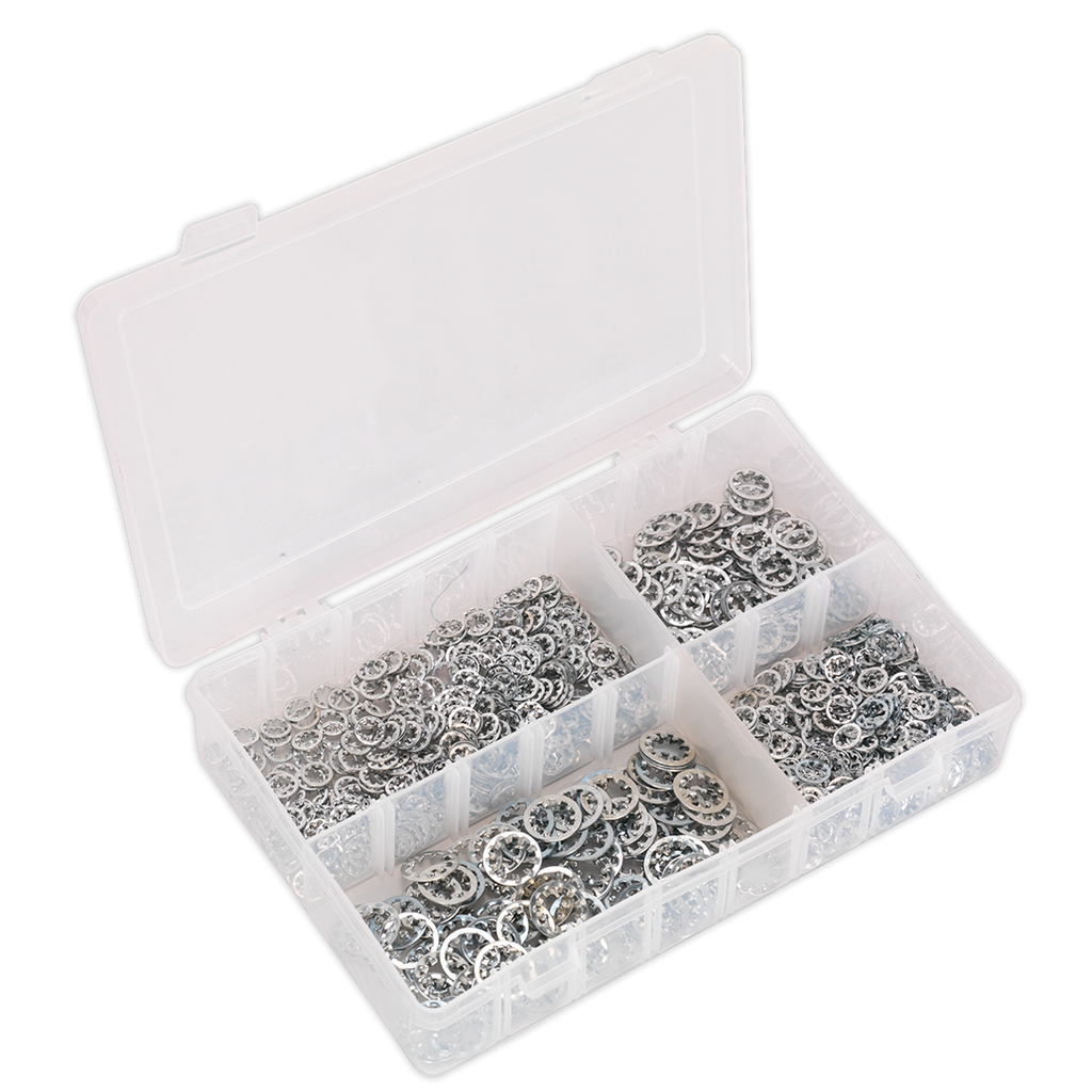Lock Washer Assortment 1000pc Serrated Internal M5-M10 Metric DIN 6798J
