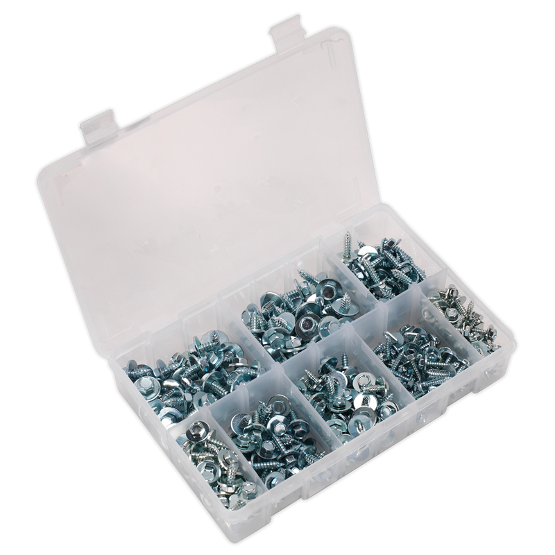 Acme Screw with Captive Washer Assortment 300pc Zinc BS 4174CZ