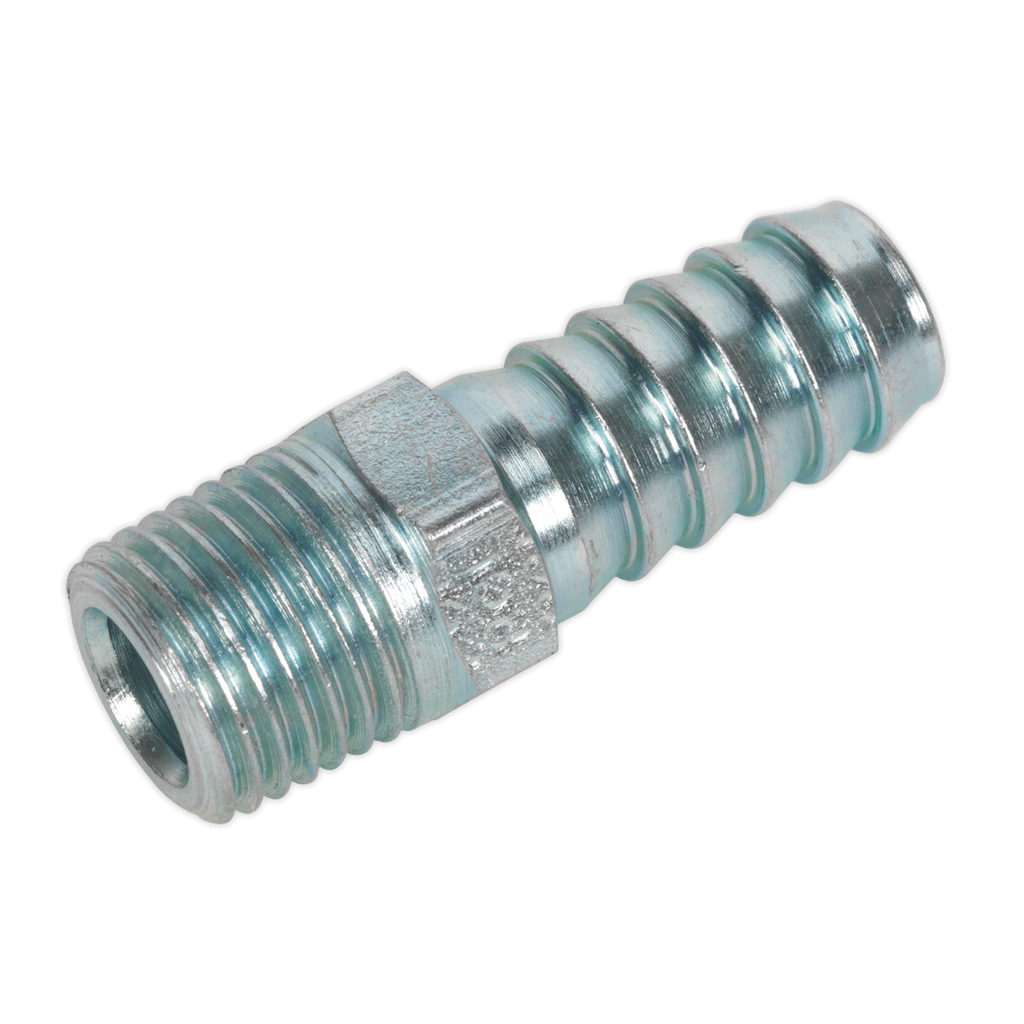 "Screwed Tailpiece Male 1/4""BSPT - 3/8"" Hose Pack of 5"