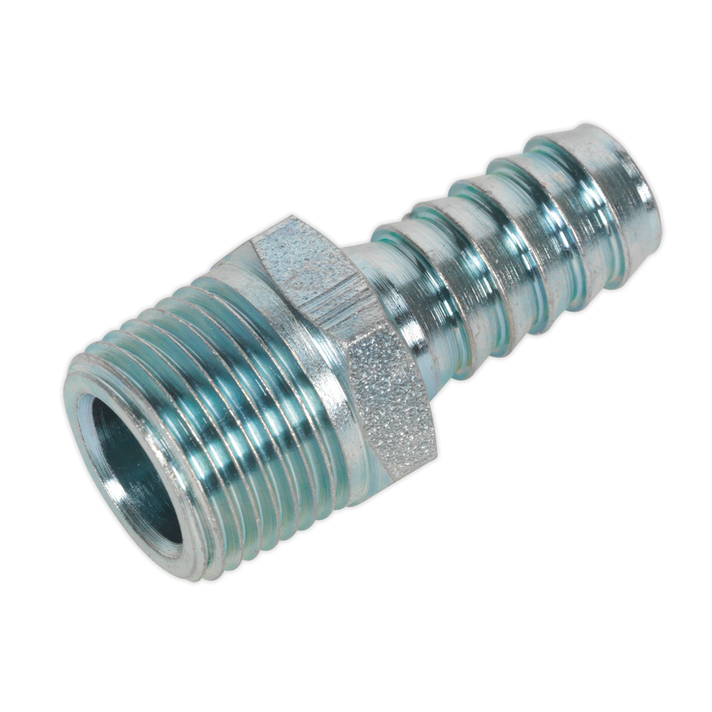 "Screwed Tailpiece Male 3/8""BSPT - 3/8"" Hose Pack of 5"