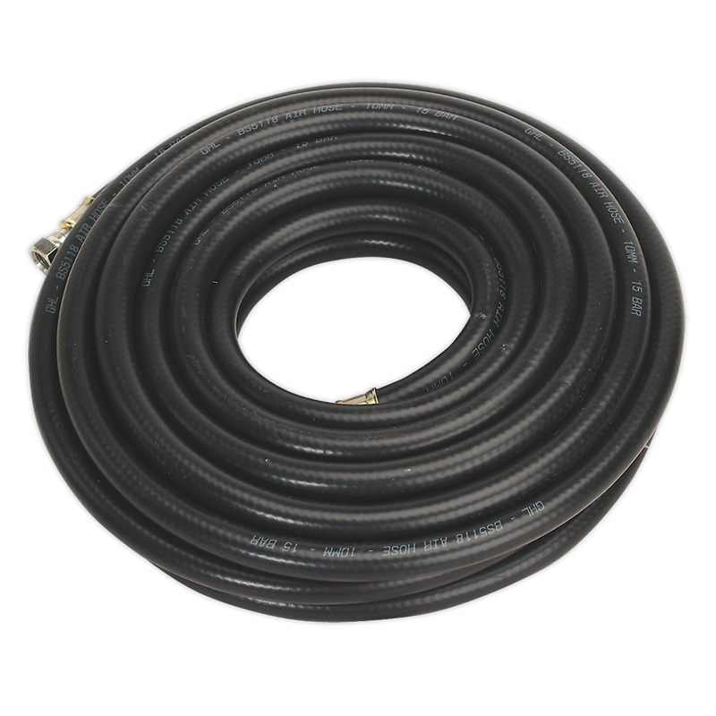 "Air Hose 10m x Ø10mm with 1/4""BSP Unions Heavy-Duty"