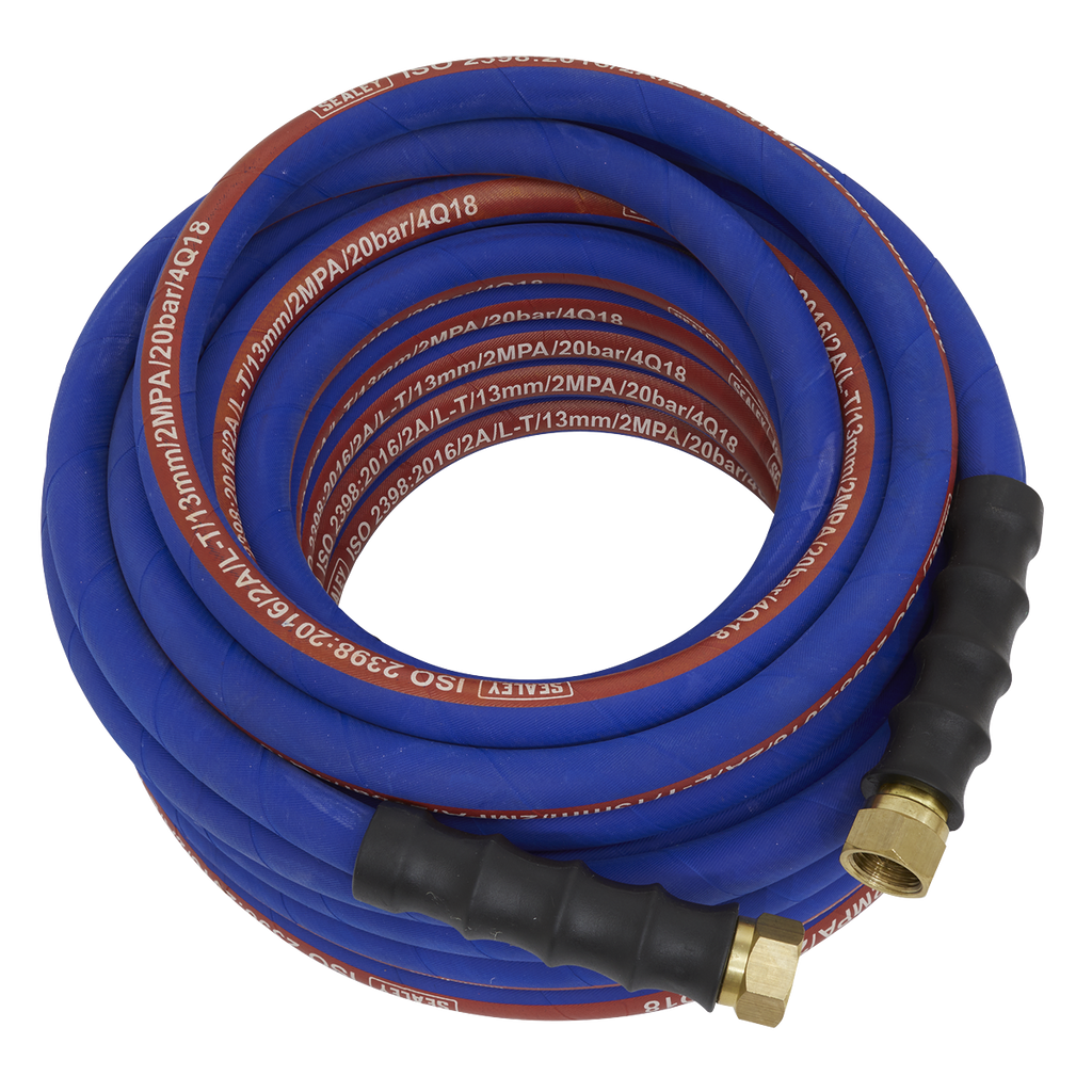 "Air Hose 15m x Ø13mm with 1/2""BSP Unions Extra-Heavy-Duty"