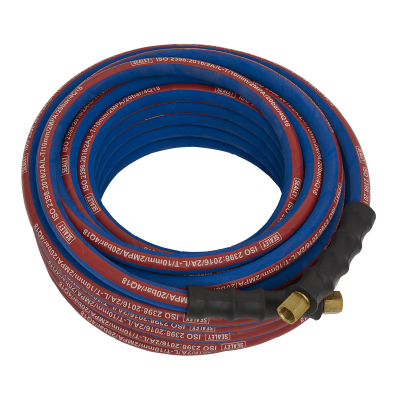 "Air Hose 15m x Ø10mm with 1/4""BSP Unions Extra-Heavy-Duty"