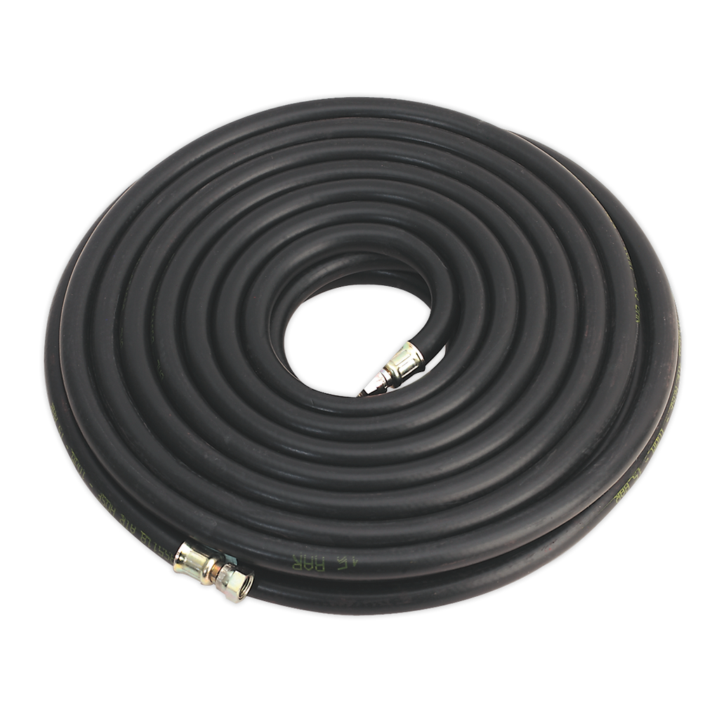"Air Hose 15m x Ø10mm with 1/4""BSP Unions Heavy-Duty"