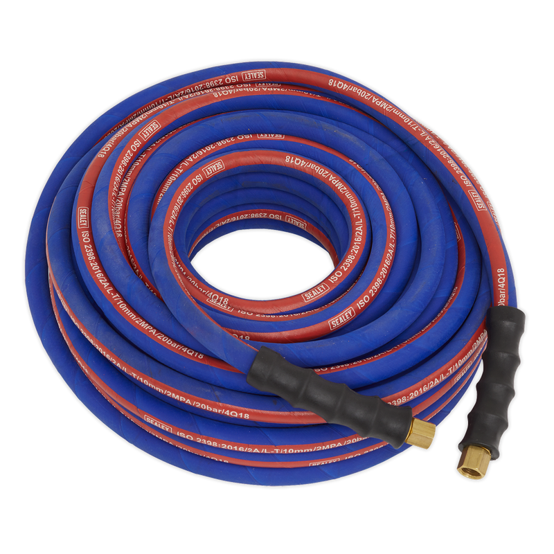 "Air Hose 20m x Ø10mm with 1/4""BSP Unions Extra-Heavy-Duty"