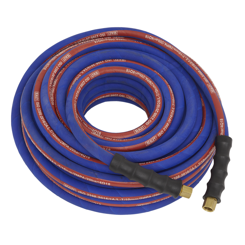 "Air Hose 20m x Ø8mm with 1/4""BSP Unions Extra Heavy-Duty"