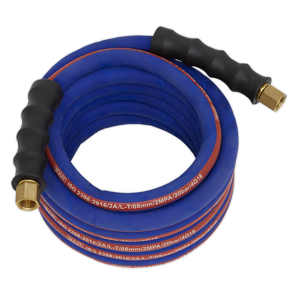 "Air Hose 5m x Ø8mm with 1/4""BSP Unions Extra Heavy-Duty"