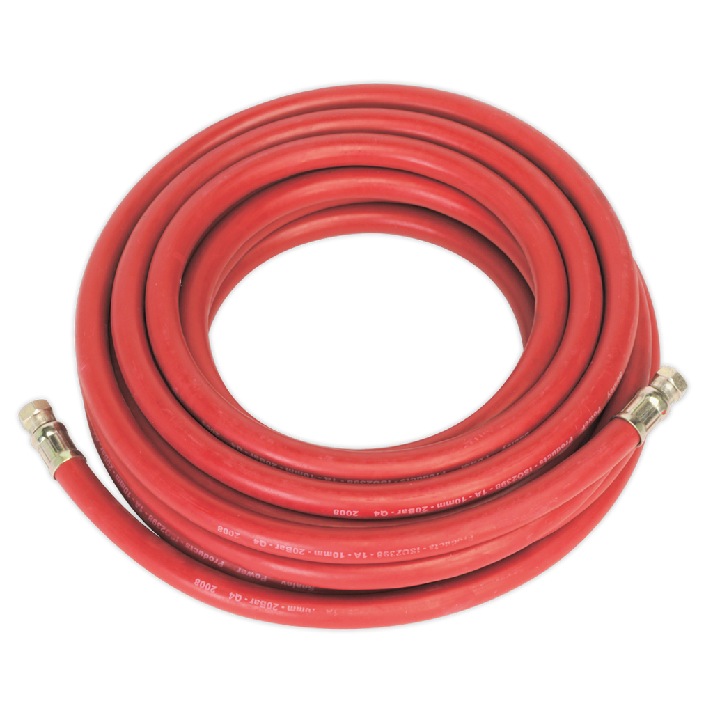 "Air Hose 10m x Ø10mm with 1/4""BSP Unions"