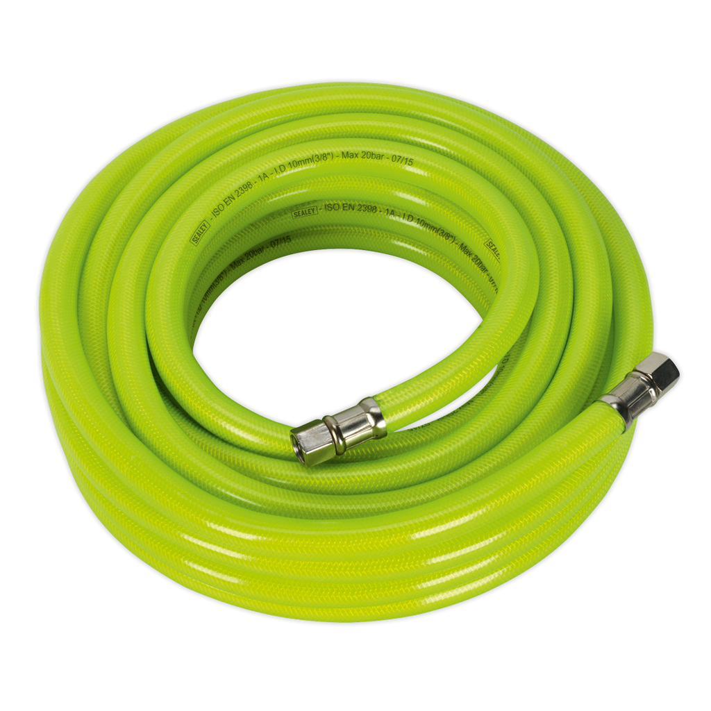 "Air Hose High Visibility 10m x Ø10mm with 1/4""BSP Unions"