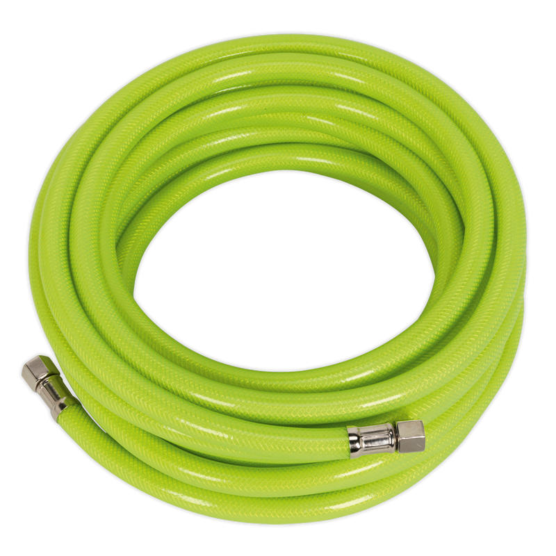 "Air Hose High Visibility 10m x Ø8mm with 1/4""BSP Unions"