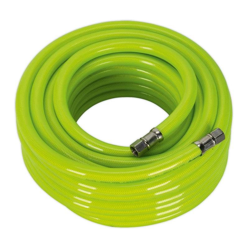 "Air Hose High Visibility 15m x Ø10mm with 1/4""BSP Unions"