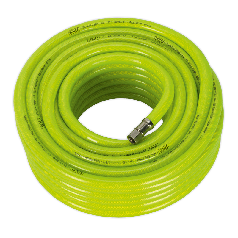 "Air Hose High Visibility 20m x Ø10mm with 1/4""BSP Unions"