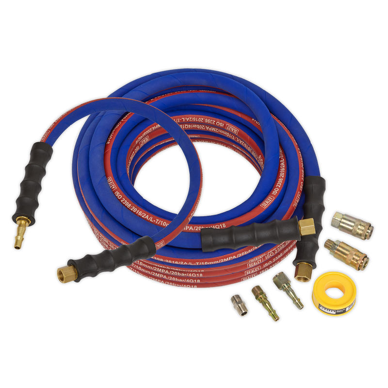Air Hose Kit Heavy-Duty 15m x Ø10mm with Connectors