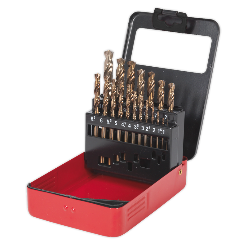 HSS Cobalt Split Point Fully Ground Drill Bit Set 19pc Metric