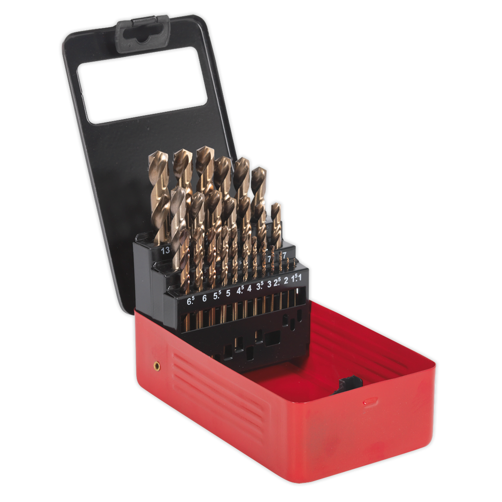 HSS Cobalt Split Point Fully Ground Drill Bit Set 25pc Metric