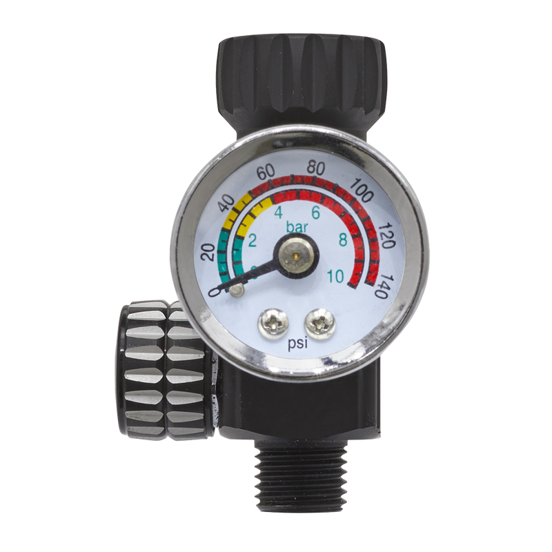 On-Gun Air Pressure Regulator/Gauge