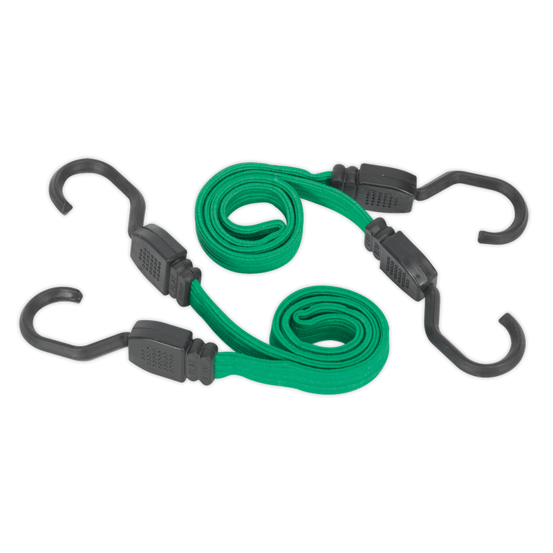 Flat Bungee Cord Set 2pc 610mm