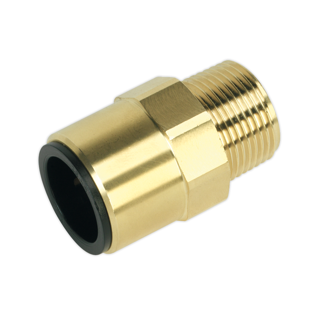 "Straight Adaptor 22mm x 3/4""BSPT Brass (John Guest Speedfit® - MM012206N)"