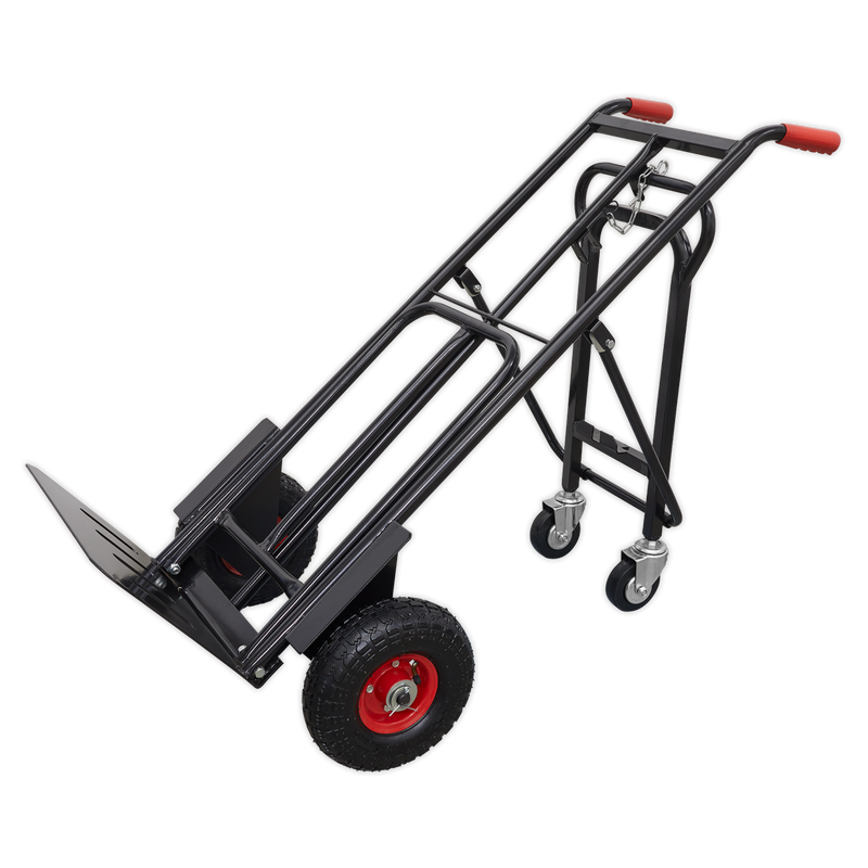 Heavy-Duty 3-in-1 Sack Truck with PU Tyres 300kg Capacity