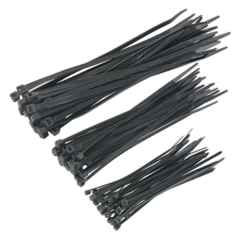 Cable Tie Assortment Black Pack of 75