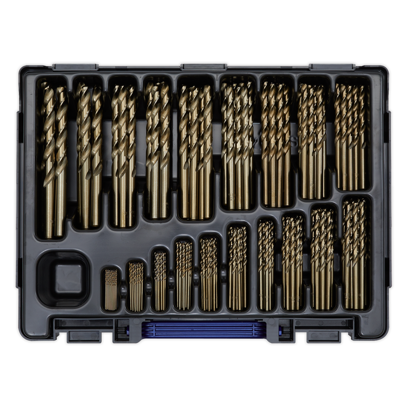 HSS Cobalt Fully Ground Drill Bit Assortment 170pc 1-10mm