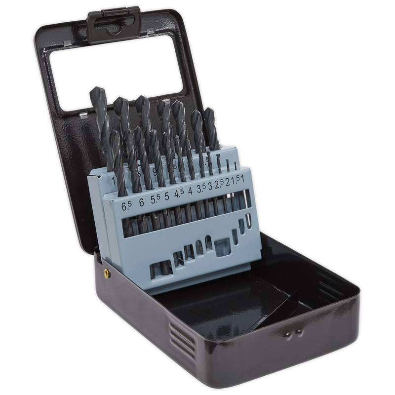 HSS Roll Forged Drill Bit Set 19pc 1-10mm