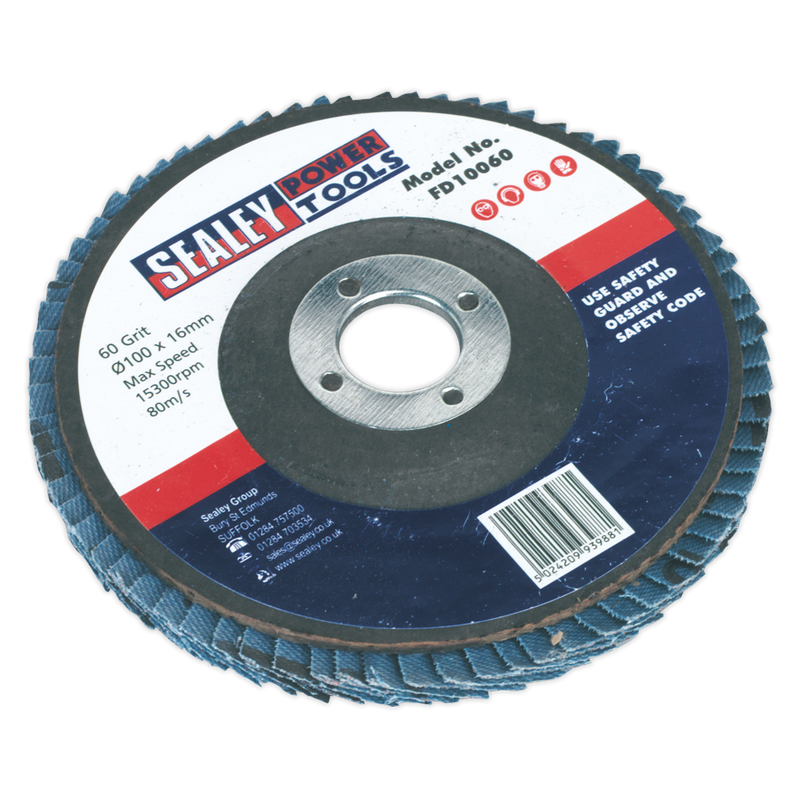 Flap Disc Zirconium Ø100mm 16mm Bore 60Grit