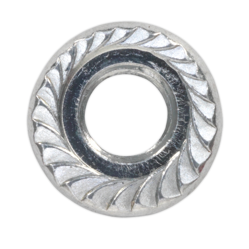 Flange Nut Serrated M5 Zinc DIN 6923 Pack of 100