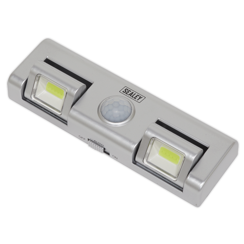 Auto Light 1W COB LED with PIR Sensor 3 x AA Cell