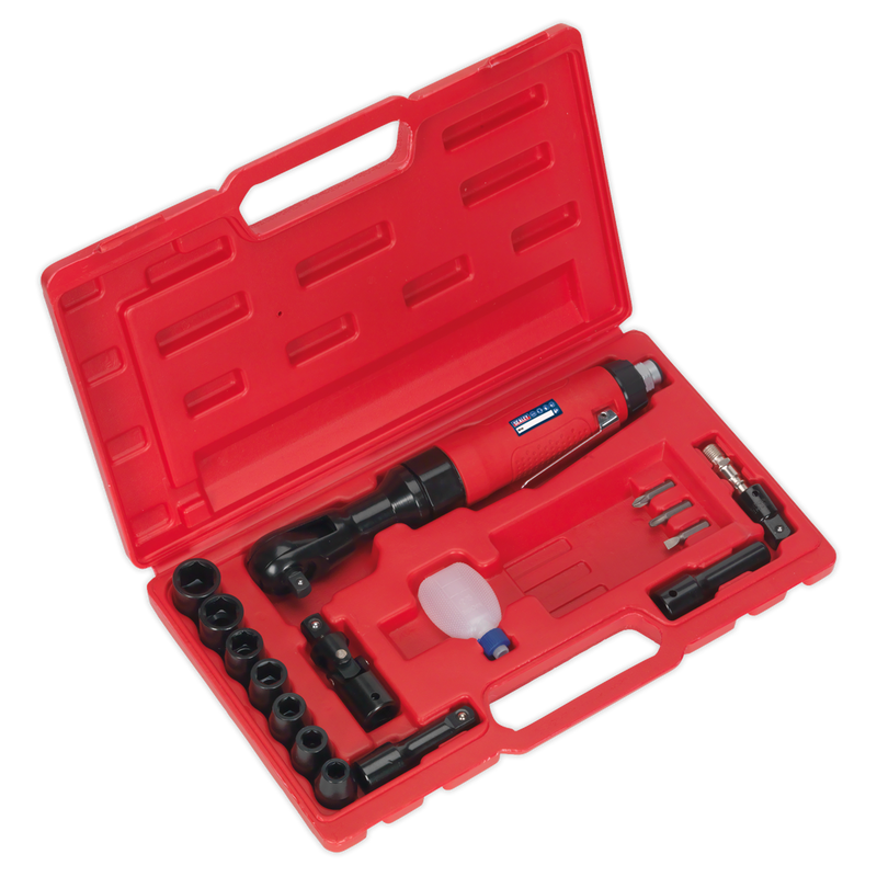 "Air Ratchet Wrench Kit 3/8""Sq Drive"