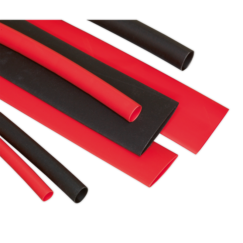 Heat Shrink Tubing Assortment 95pc 100mm Black & Red