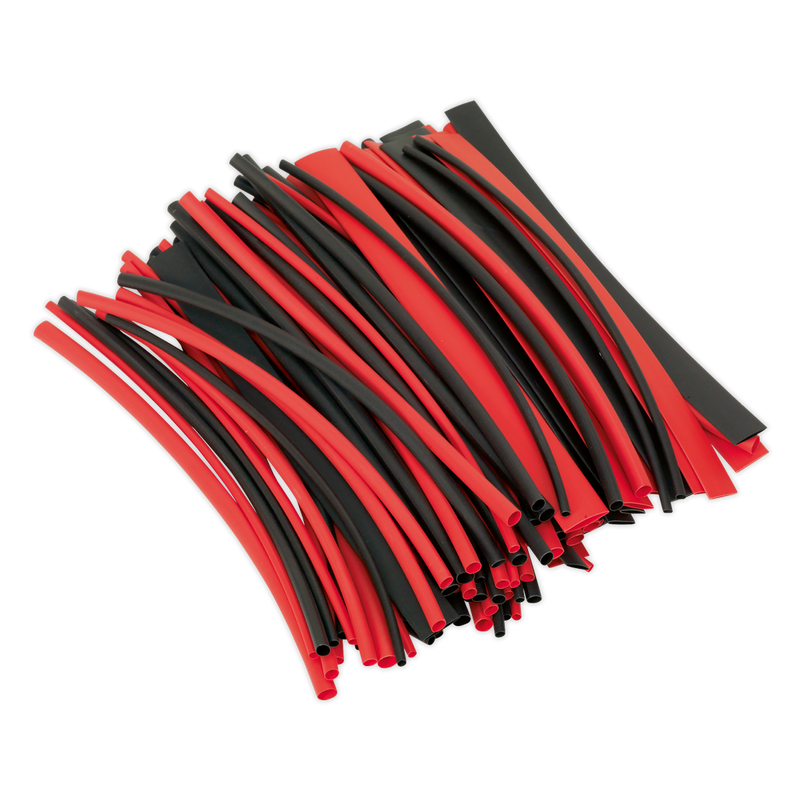 Heat Shrink Tubing Black & Red 200mm 100pc
