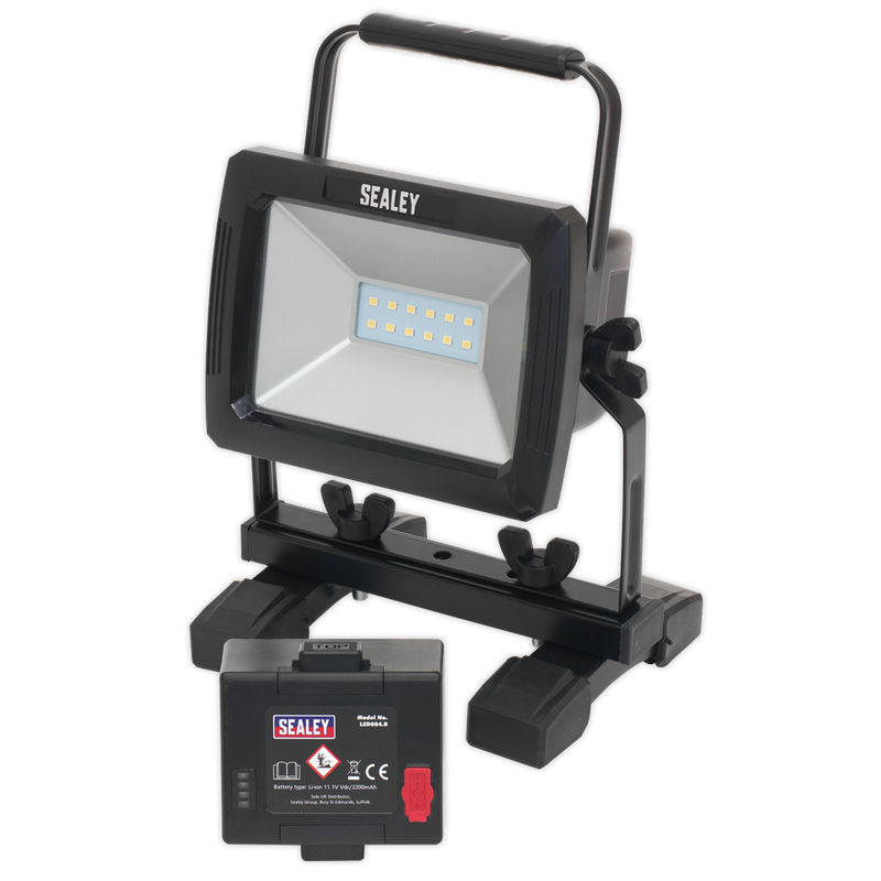 10W SMD Rechargeable Floodlight with Extra Battery