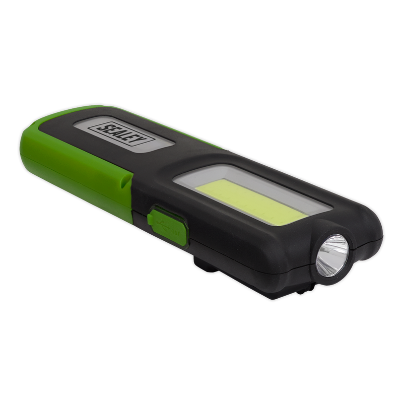Rechargeable Inspection Lamp Green 5W COB + 3W LED + Power Bank