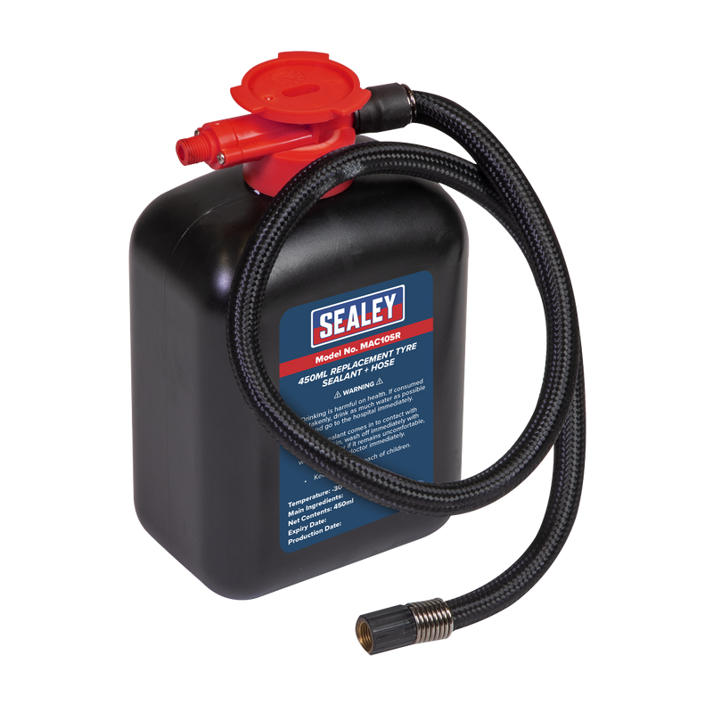 Replacement Tyre Sealant 450ml + Hose