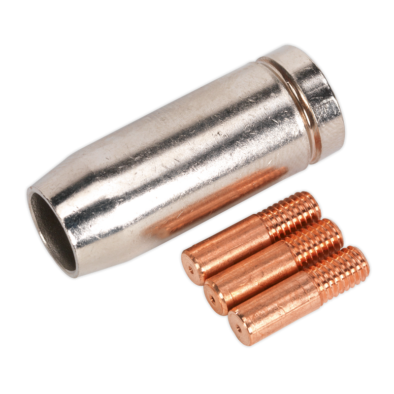 Conical Nozzle x 1 Contact Tip 0.6mm x 3 MB14