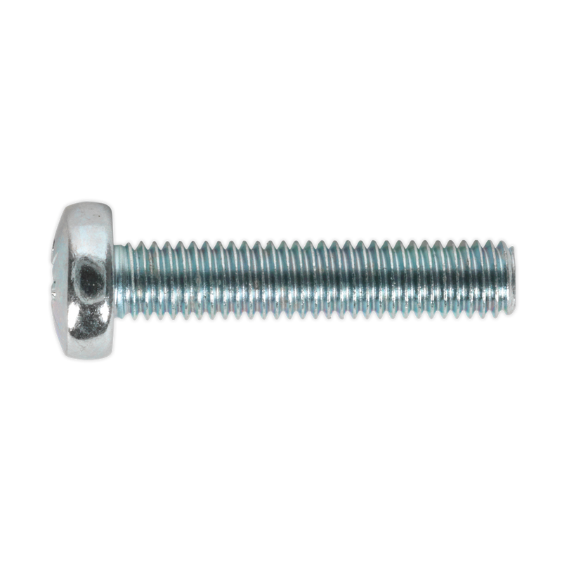 Machine Screw M5 x 25mm Pan Head Pozi Zinc DIN 7985z Pack of 50