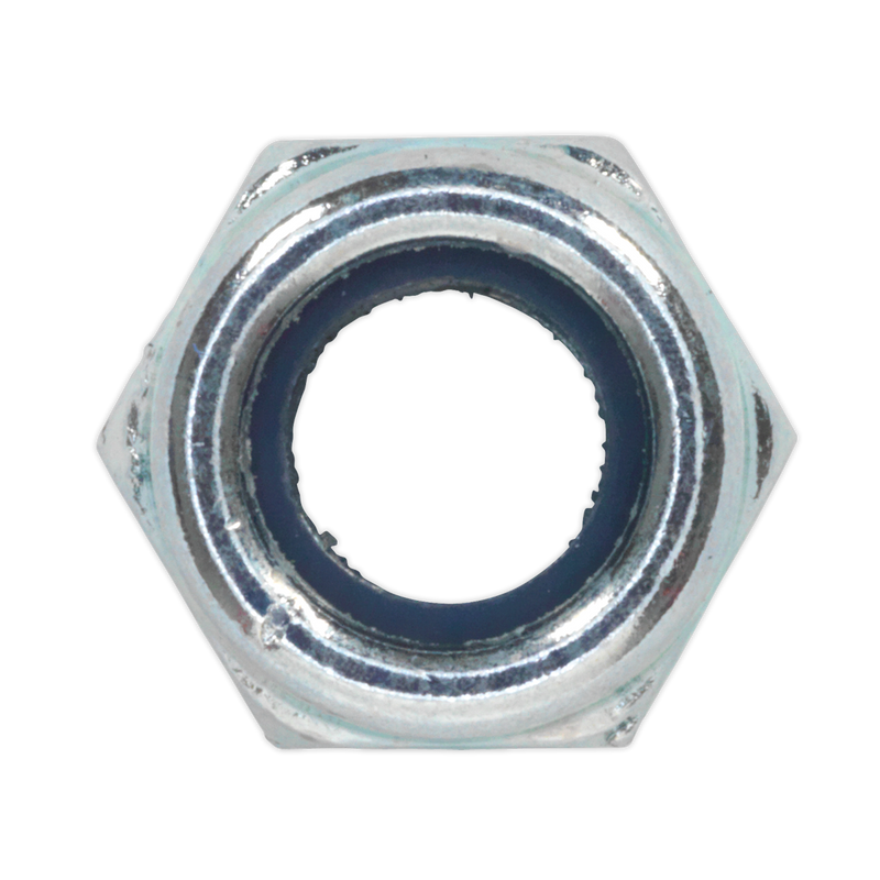 Nylon Lock Nut M6 Zinc DIN 982 Pack of 100