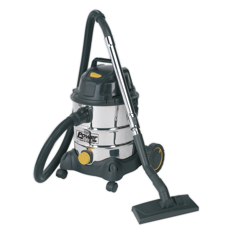 Vacuum Cleaner Industrial Wet & Dry 20L 1250W/110V Stainless Drum