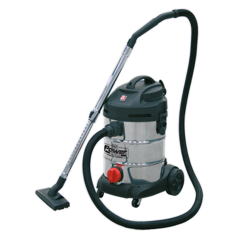 Vacuum Cleaner Industrial 30L 1400W/230V Stainless Drum
