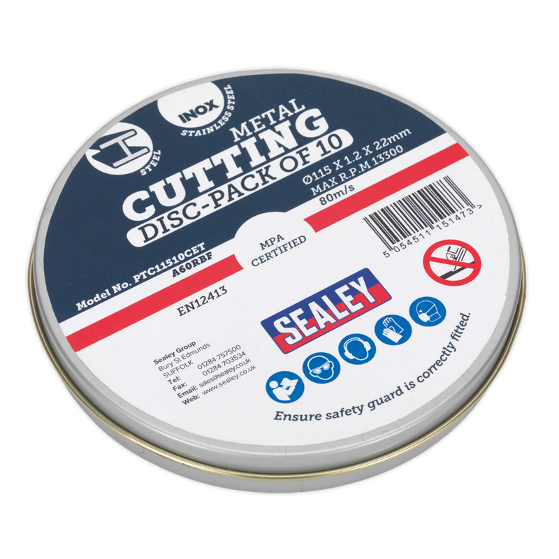 Cutting Disc 115 x 1.2mm 22mm Bore Pack of 10