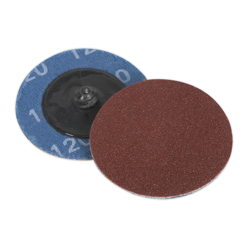 Quick-Change Sanding Disc Ø50mm 120Grit Pack of 10
