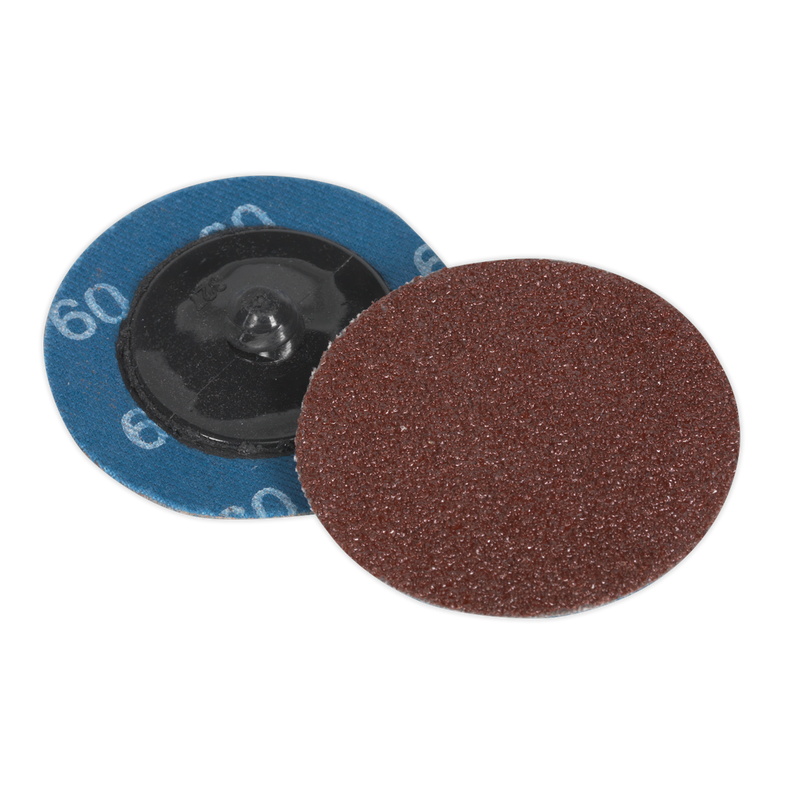 Quick-Change Sanding Disc Ø50mm 60Grit Pack of 10
