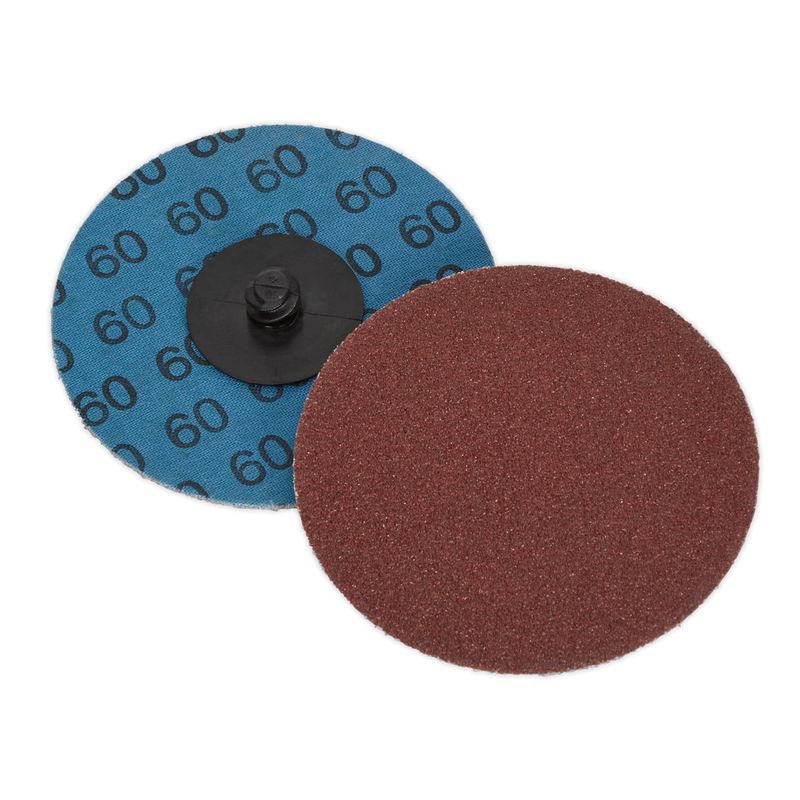 Quick-Change Sanding Disc Ø75mm 60Grit Pack of 10